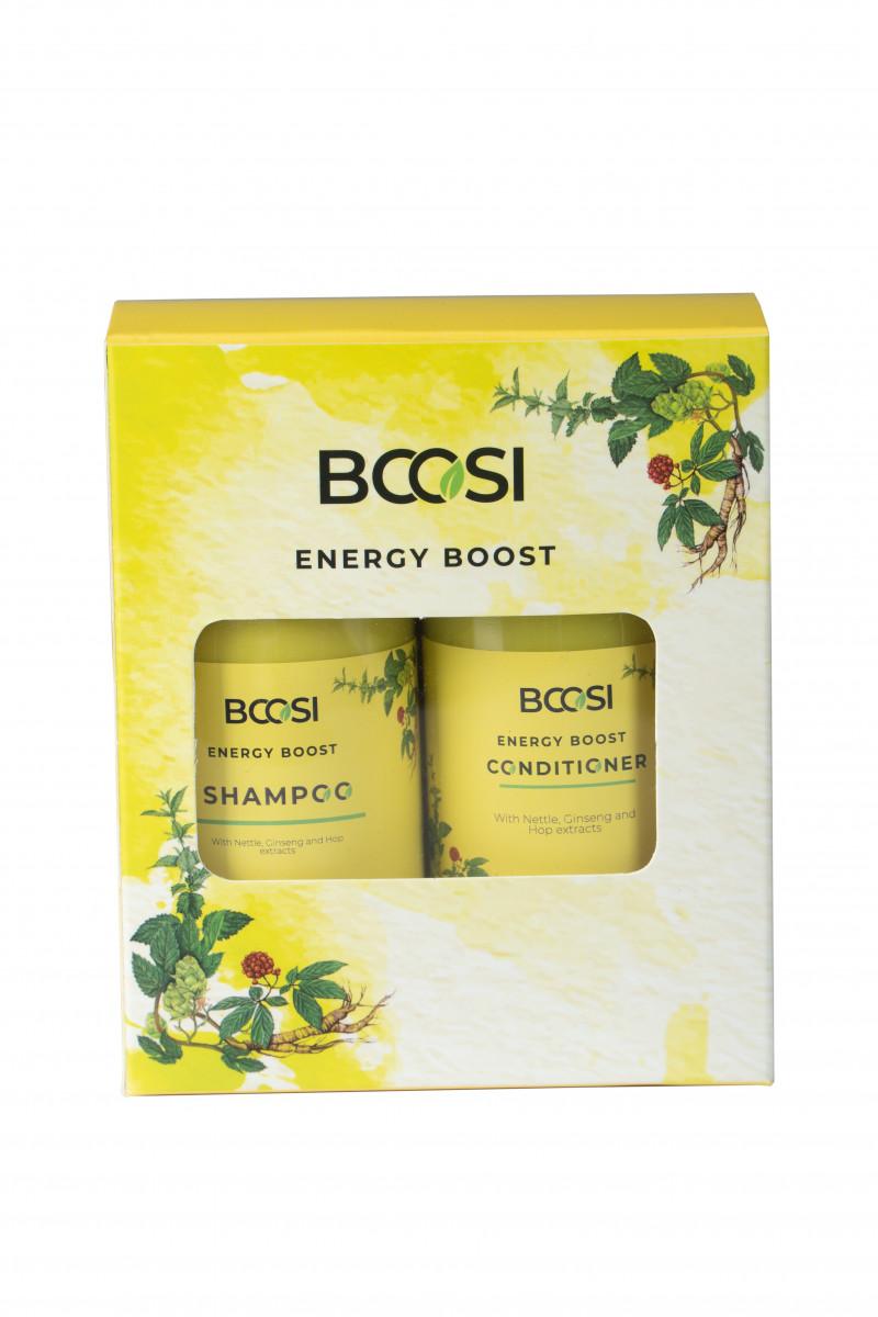Bộ dầu gội - dầu xả chăm sóc da đầu và ngăn ngừa rụng tóc BCOSI Energy Boost (150ml)