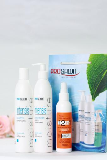 Combo dành cho tóc uốn PROSALON INTENSIS CURLY tặng Xịt dưỡng tóc 12 trong 1 SPRAY MASK