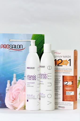 Combo sản phẩm dành cho tóc thưa mỏng INTENSIS VOLUME tặng Xịt dưỡng 12 trong 1 SPRAY MASK