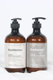 KREATEME+ KERATIN NOURISHING Shampoo & Conditioner  - Bộ dầu gội - dầu xả thải độc và nuôi dưỡng tóc KreAteme+